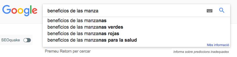 búsqueda de google manzana