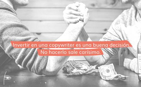nvertir en un buen copywriter es una buena inversión.