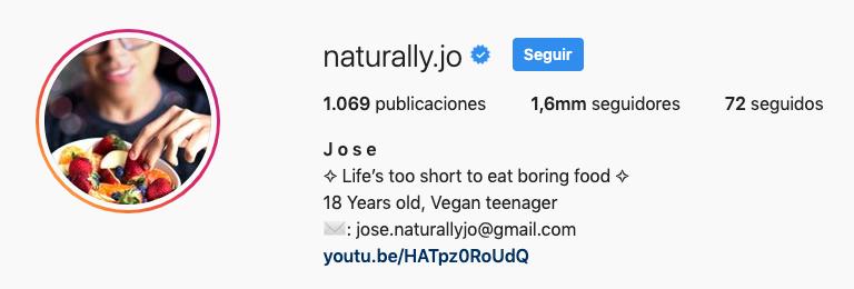 perfil de naturally.jo