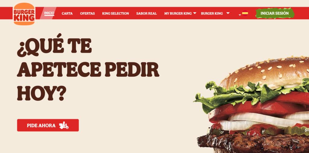 personalidad de marca colega Burger King